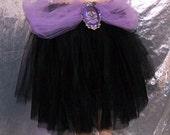 Black Lavender Skull Crossbones Cameo Bustle Wrap MTCoffinz --- ready to ship