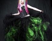 Neon Green Cyber Gothic Formal Wedding Skirt all sizes MTCoffinz