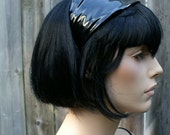 Black Shiny PVC Headband - Closeout SALE - Ready to Ship