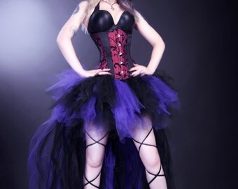 Dark Purple Black Trashy Formal Bustle TuTu Adult All Sizes MTCoffinz