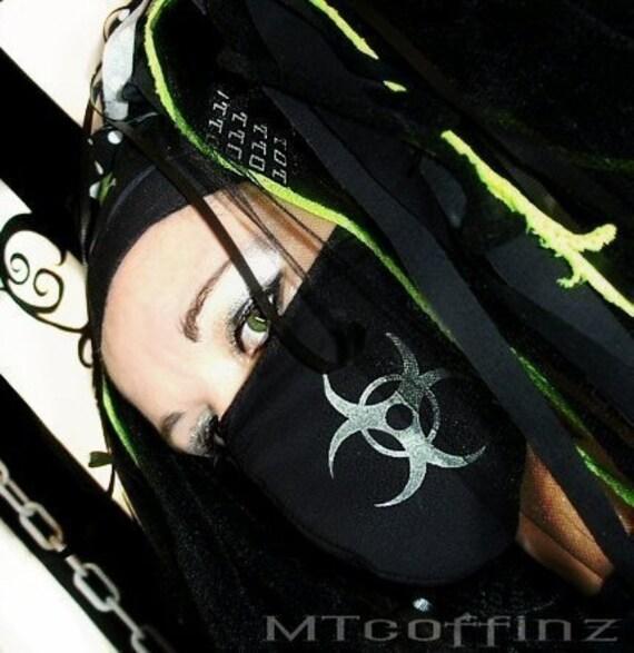 Glow in the Dark Cyber BioHazard Surgical Mask MTcoffinz