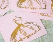 Bridesmaid...6 Flat Cards, Gift Tags, or Embellishments