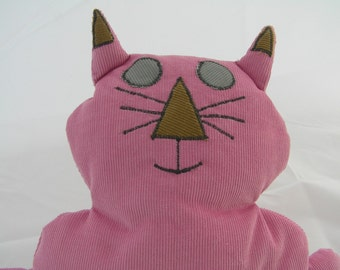 Toy Flat Mate Pink Cat OOAK  (156)