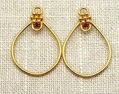 2x..Large..Vermeil-24k Gold Plated.. Ear Finding...