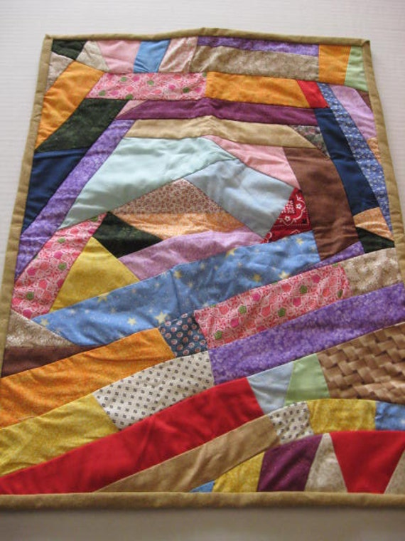 On Sale for 10.00 ,Crazy Quilt made for dolls