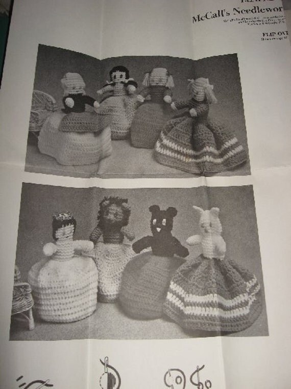 Flip-Over Dolls to knit and crochet, McCall's Needlework Leaflet No.888-NB