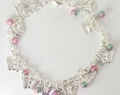 Angel's Bead Expressions - Bracelet - Charm Bracelet 'Wing Flutter'