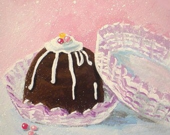 Original Painting * Chocolate Candy * TRUFFLES III * Small Art Format * Art By Rodriguez
