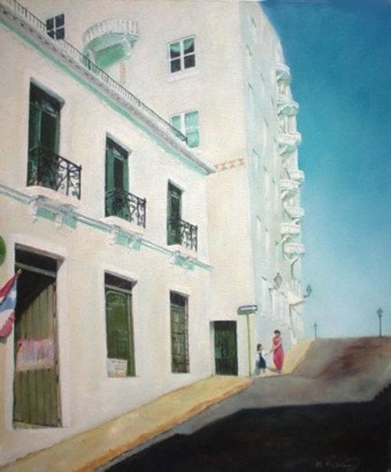 EARLY TO SCHOOL - Original Painting  Rodriguez