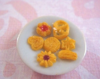 Dollhouse Miniature 1/12 Scale - Assorted Butter Cookies