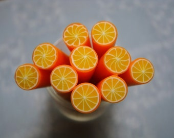 Dollhouse Miniature - Orange Fruit Cane - SUPPLIES