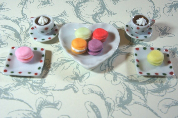 Dollhouse Miniature - Macaroon Tea Set D