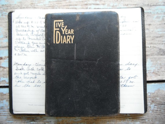 1940 Vintage Diary Eugene Oregon