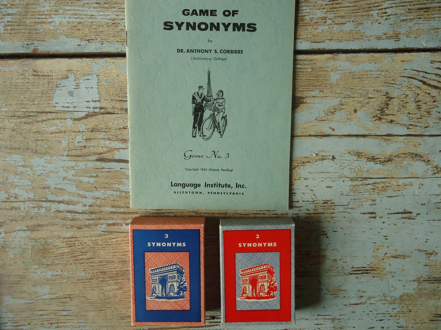 Vintage french card game of synonyms 1954 by iloveyoumore for Synonyms for vintage