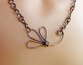 Copper Flower Handmade Chain Necklace