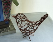 Wren Bird Wire Sculpture