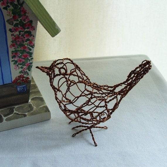 Wren Bird Wire Sculpture
