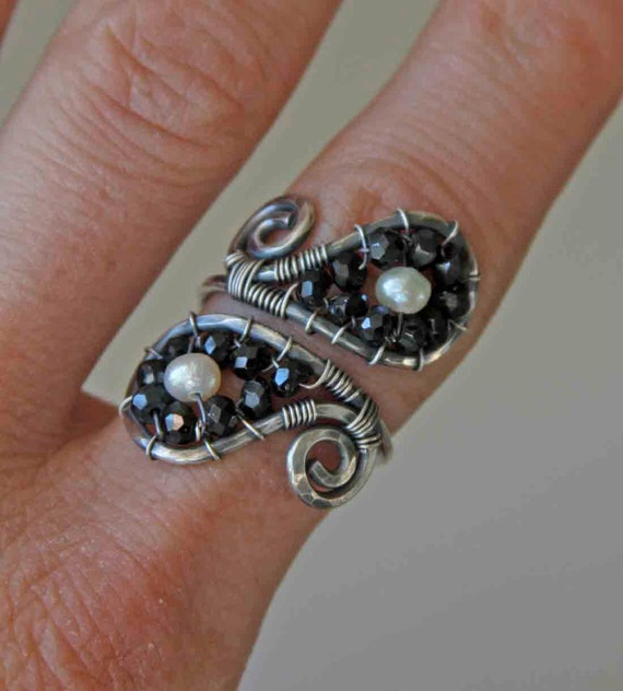 oOo Clearance Sale oOo Sterling Silver Paisley Cuff Ring