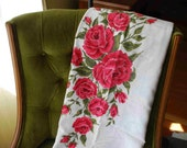 Celebrate The Beauty of Cabbage Roses - vintage panel