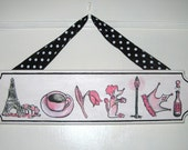 Personalized Name Plaque (7 or fewer letters)