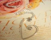 Open Heart Pendant on Sterling Silver Chain