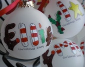 Personalized Christmas Ornament Hand Painted