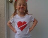 Valentines Day / CHD Awareness Zipper Heart Shirt - Boys and Girls