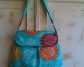 Beautiful blue floral purse