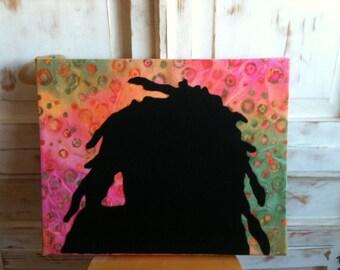 One Love Bob Marley Fabric Art Wall Hanging