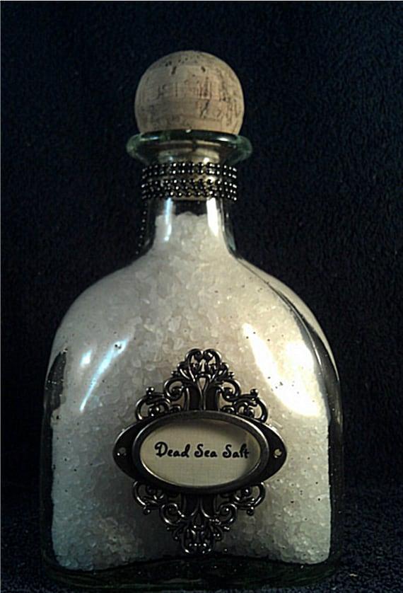 SALE 2 pounds Bath Salts, Dead sea salt, Beautiful, keepsake bottle, Free Shipping