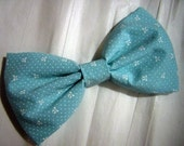mint seafoam green bow print bow