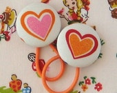 Ponytail Holders - Hearts
