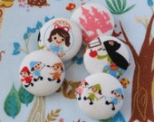 Custom Order for lmn5187  - 6 Snow White and the Seven Dwarfs Buttons