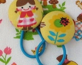 Ponytail Holders - Girl and Flower