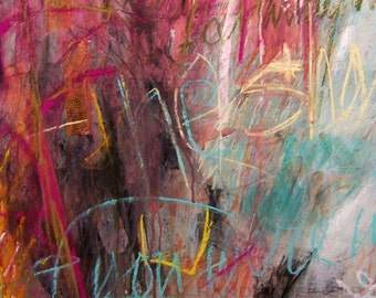 Civilized Graffiti  abstract painting drawing original, 100% charity donation 22x29 inches free shipping