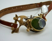 Steampunk Brass Monocle Goggles Victorian Mad Scientist LARP Cosplay