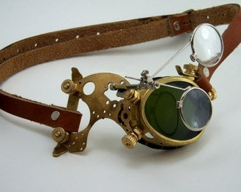 Steampunk Brass Monocle Goggles Victorian Mad Scientist LARP Cosplay
