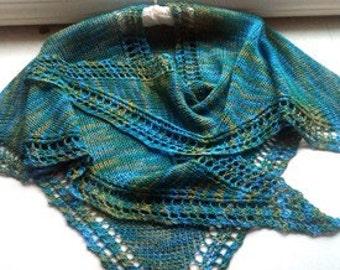 Summer Scharp - A One Skein summer shawl-wrap-scarf PDF Pattern