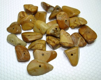 Tiger Jasper Chip Beads (Qty 24) - B1039