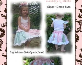Lacey Claire twirly skirt pattern--PDF