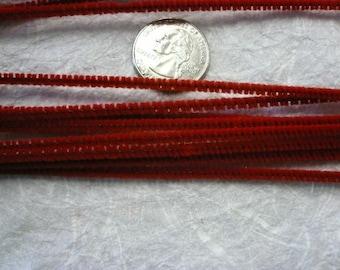 Retro Red Chenille Stems 3mm (12)