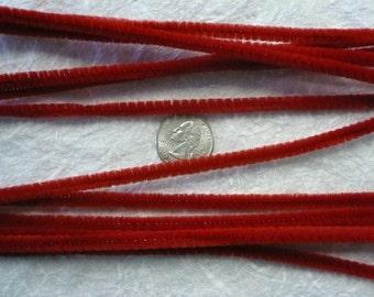 Retro Red Chenille Stems 6mm (12)