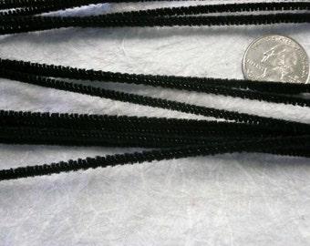 Retro Black Chenille Stems 3mm (12)