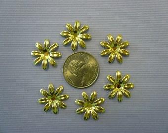 Vintage 8 Petal Brass Flower (10)
