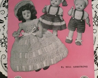 Vintage Doreen Dolls Crochet Book by Nell Armstrong