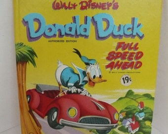 Donald Duck Full Speed Ahead Vintage Whitman Tell A Tale Books