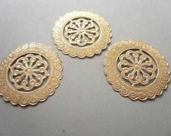 Vintage Gold Dresden Coin  Medallions  (3)