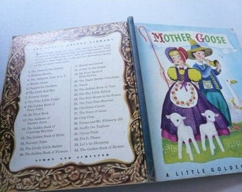 Little Golden Book Mother Goose Selected by Phyllis Fraser, Illustrated by Miss Eliott