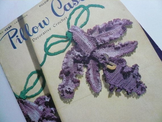 Pillow Cases Antique Crochet Pattern Book
