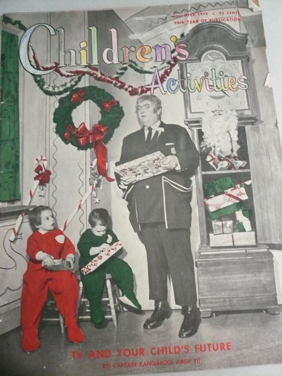 December  1958 Children's Activities Magazine